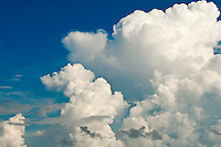 View of background sky with clouds formation.