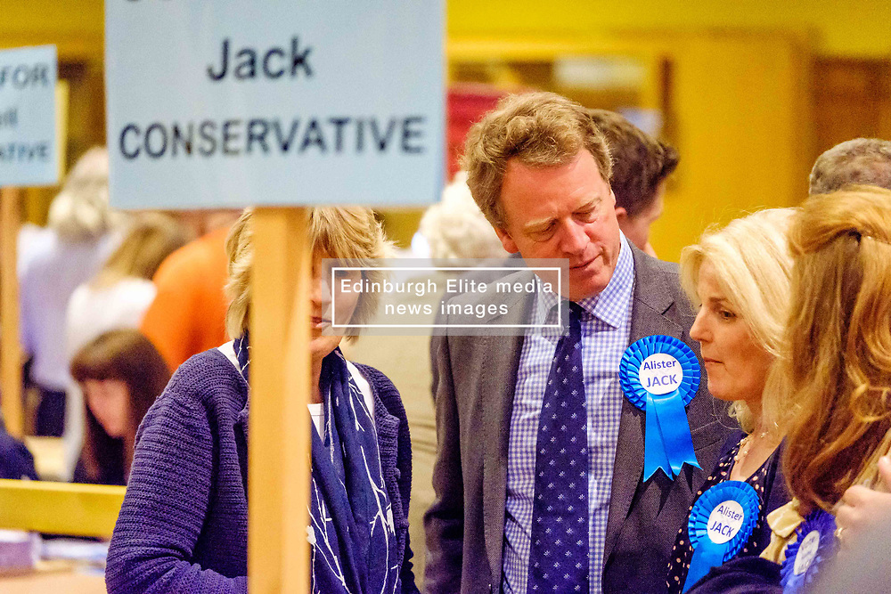 General Election 2017 Dumfries Count :: Alister Jack, Conservative at the count<br /> <br /> (c) Andrew Wilson | Edinburgh Elite media