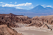 Death valley and the mighty Licancabur. San Pedro de Atacama, Chile.
