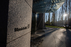 November 10, 2018 - Munich, Bavaria, Germany - The Headquarters of the Muenchener Rückversicherungs-Gesellschaft Aktiengesellschaft in Muenchen in the Leopoldstraße, Munich, Germany, on 10 November 2018. (Credit Image: © Alexander Pohl/NurPhoto via ZUMA Press)