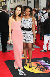 © Licensed to London News Pictures. 01/07/2013. London, UK. Mariama Goodman and Celena Cherry at the Bula Quo UK film premiere, Odeon West End cinema Leicester Square, London. Photo credit: Richard Goldschmidt/LNP