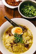 Mohinga rice noodle soup. Yangon, Myanmar