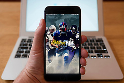 Using iPhone smartphone to display logo of William Hill online betting app