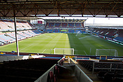 General view of Turf Moor Stadium. Premier League match between Burnley and Leicester City at Turf Moor, Burnley, England on 19 January 2020.