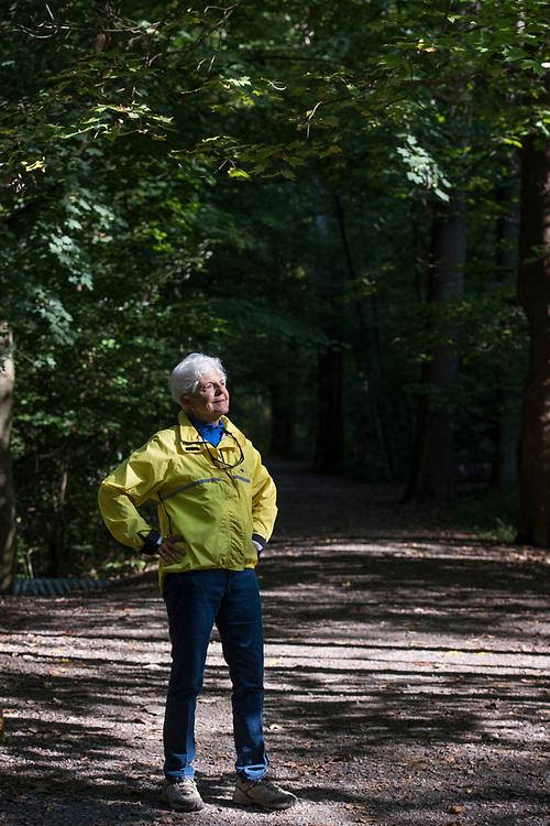 Martha Raak -- park ambassador -- at Frick Park in Pittsburgh
