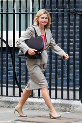© Licensed to London News Pictures. 11/07/2017. London, UK. Education Secretary Secretary JUSTINE GREENING attends a cabinet meeting in Downing Street, London on Tuesday, 11 July 2017. Photo credit: Tolga Akmen/LNP