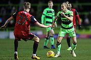 Forest Green Rovers Joseph Mills(23) on the ball during the EFL Sky Bet League 2 match between Forest Green Rovers and Grimsby Town FC at the New Lawn, Forest Green, United Kingdom on 22 January 2019.