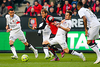 Ola TOIVONEN / Damien DA SILVA  - 25.01.2015 - Rennes / Caen  - 22eme journee de Ligue1<br /> Photo : Vincent Michel / Icon Sport *** Local Caption ***