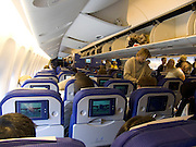 passengers making themselves ready for flight