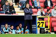 AFC Wimbledon manager Neal Ardley standing in front of dug out during the EFL Sky Bet League 1 match between Charlton Athletic and AFC Wimbledon at The Valley, London, England on 28 October 2017. Photo by Matthew Redman.