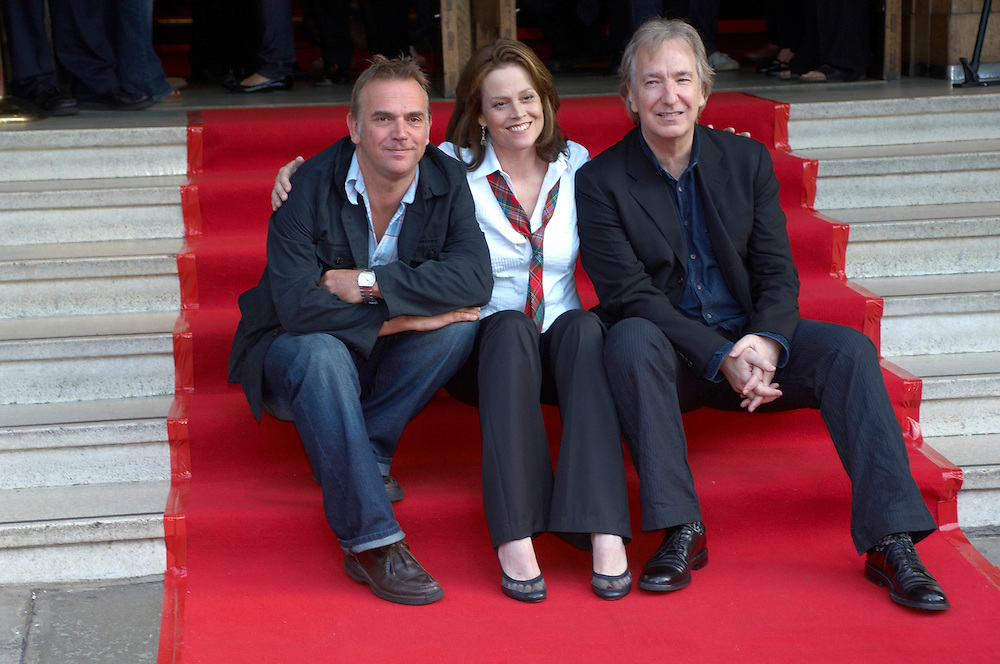 "Actors Sigourney Weaver, Alan Rickman and director Mark Evans at the premiere of their movie ""Snow cake"" at the Edinburgh International Film festival 2006<br />"