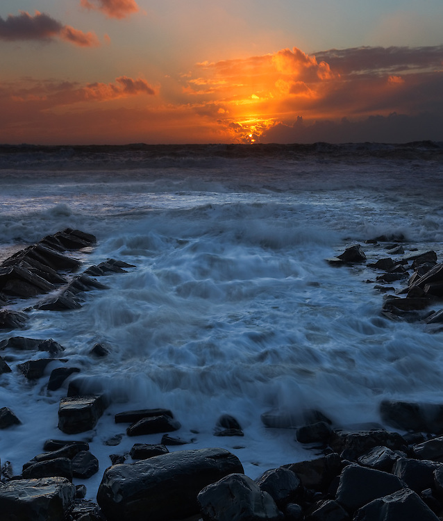 Kimmeridge Cove sunset