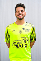 Gauthier Larsonneur of Brest during the Photo shooting of Stade Brestois in Brest on september 22th 2016<br /> Photo : Philippe Le Brech / Icon Sport