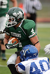15 November 2014:  Andrew Javorka during an NCAA division 3 football game between the North Park Vikings and the Illinois Wesleyan Titans in Tucci Stadium on Wilder Field, Bloomington IL