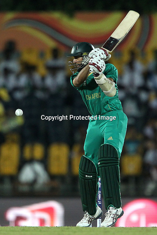 Hashim Amla during the ICC World Twenty20 Pool C match between South Africa and Zimbabwe held at the MAHINDA RAJAPAKSA INTERNATIONAL CRICKET STADIUM in Hambantota, Sri Lanka on the 20th September 2012<br /> <br /> Photo by Ron Gaunt/SPORTZPICS