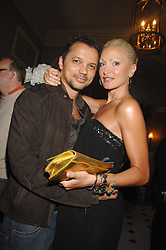 Model CAPRICE BOURRET and GERRY DEVEAUX at the Tatler magazine Summer Party, Home House, Portman Square, London W1 on 27th June 2007.<br />