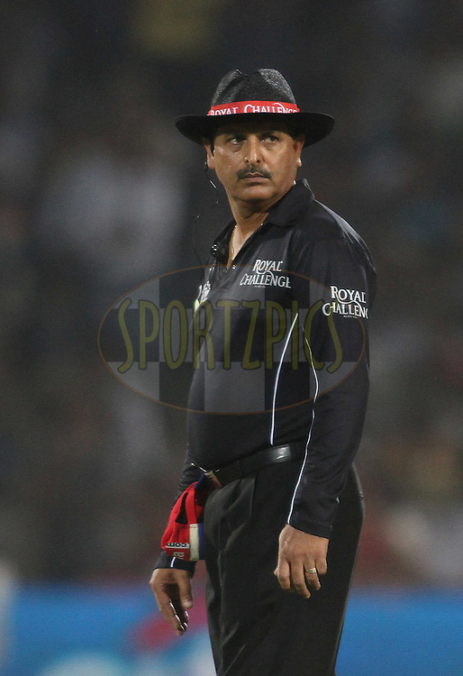 Umpire Sudhir Asnani during match 30 of the the Indian Premier League (IPL) 2012  between The Rajasthan Royals and the Royal Challengers Bangalore held at the Sawai Mansingh Stadium in Jaipur on the 23rd April 2012..Photo by Shaun Roy/IPL/SPORTZPICS