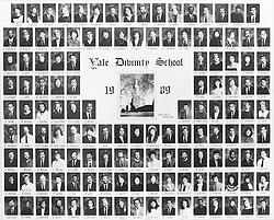 1989 Yale Divinity School Senior Portrait Class Group Photograph