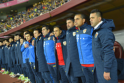 November 14, 2017 - Bucharest, Romania - Romania's coach Cosmin Contra during International Friendly match between Romania and Netherlands at National Arena Stadium in Bucharest, Romania, on 14 november 2017. (Credit Image: © Alex Nicodim/NurPhoto via ZUMA Press)