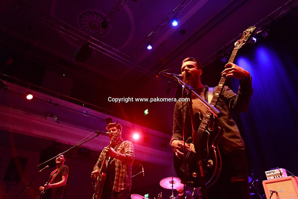 Edinburgh, UK. 25th November 2016. Broken Witt Rebels performs on stage at the Edinburgh Queen's Hall. Pako Mera