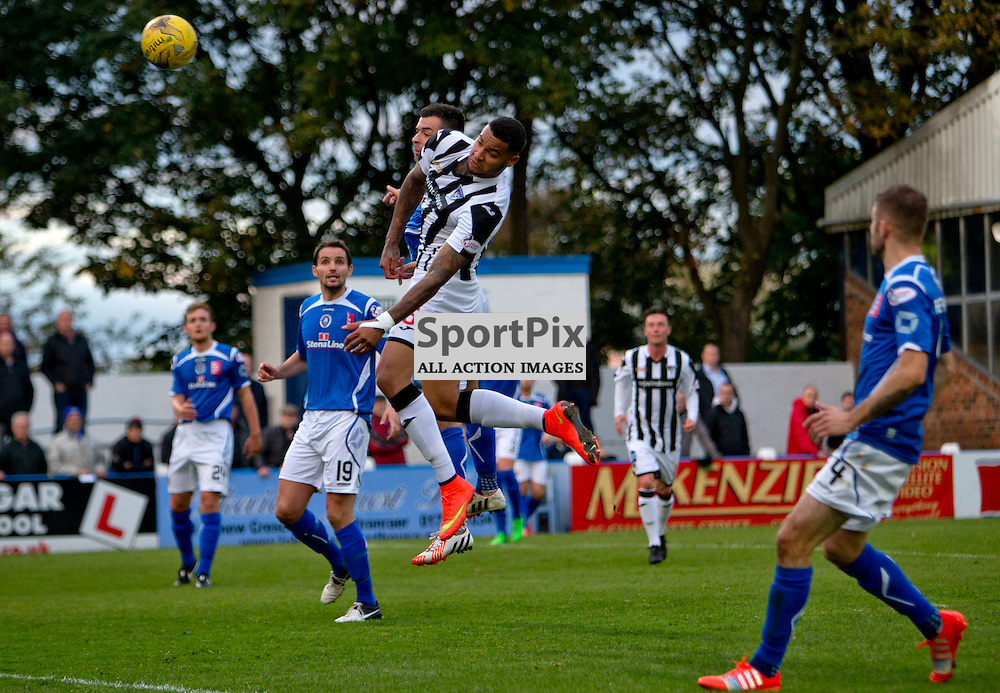 Stranraer v Dunfermline Athletic SPFL League One Season 2015/16 Stair Park 17 October 2015<br /> Ben Richards-Everton makes it 2-0<br /> CRAIG BROWN | sportPix.org.uk