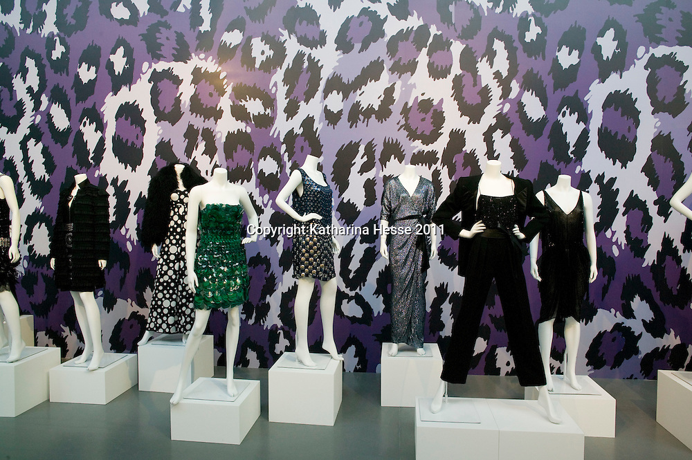 """Beijing, April,2, 2011 :  DVF dresses are displayed at the """" JOurney of  Dress"""" exhibition in Beijing."""