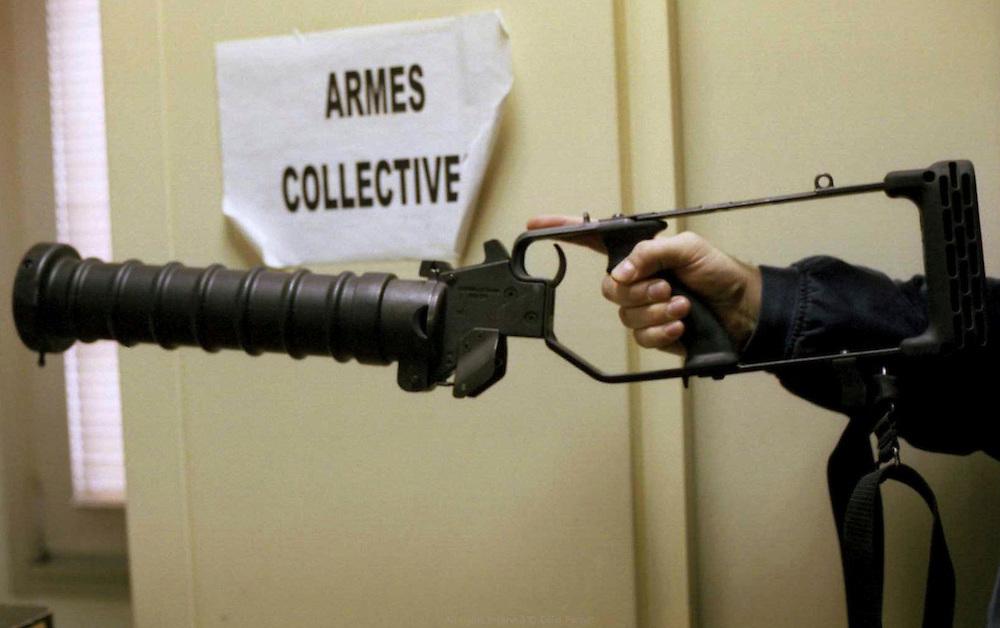 Armes collectives, commissariat de Corbeil-Essonnes.<br /> <br /> Collectiv weapons, Corbeil-Essonnes police station.