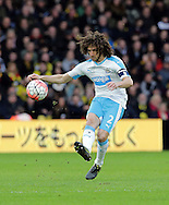 Newcastle captain Fabricio Coloccini during the The FA Cup Third Round match between Watford and Newcastle United at Vicarage Road, Watford, England on 9 January 2016. Photo by Dave Peters.