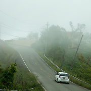 NOVEMBER 17, 2017&ndash;MARICAO, PUERTO RICO&mdash;<br /> Fog moves roll in and cover parts of the road  in the mountain range town of Maricao.<br /> (Photo by Angel Valentin)