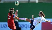 Fotball <br /> La Manga<br /> 28.02.2015<br /> Foto: Morten Olsen/Digitalsport<br /> <br /> Women U23 tournament<br /> Landskamp kvinner U23<br /> Norge v USA / Norway v USA 0:2<br /> <br /> Nora Byom-Nilssen (5) - Norge