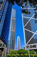 Chine, Hong Kong, Hong Kong Island, la tour Two International Finance Centre de l'architecte Cesar Pelli, 420m de hauteur // China, Hong-Kong, Hong Kong Island, Two International Finance Centre tower from architecte Cesar Pelli, 420 m high