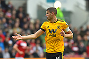 Conor Coady (16) of Wolverhampton Wanderers during the The FA Cup 5th round match between Bristol City and Wolverhampton Wanderers at Ashton Gate, Bristol, England on 17 February 2019.