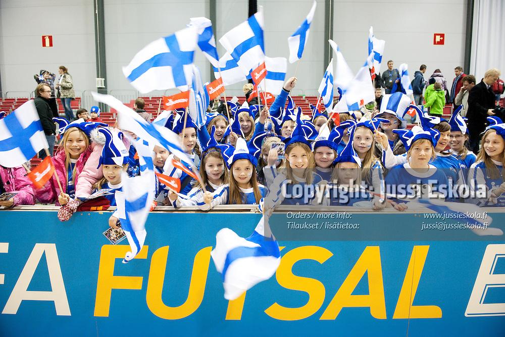 Suomi - San Marino. Futsal. EM-alkukarsintaturnaus. Tampere. 22.1.2011. Photo: Jussi Eskola