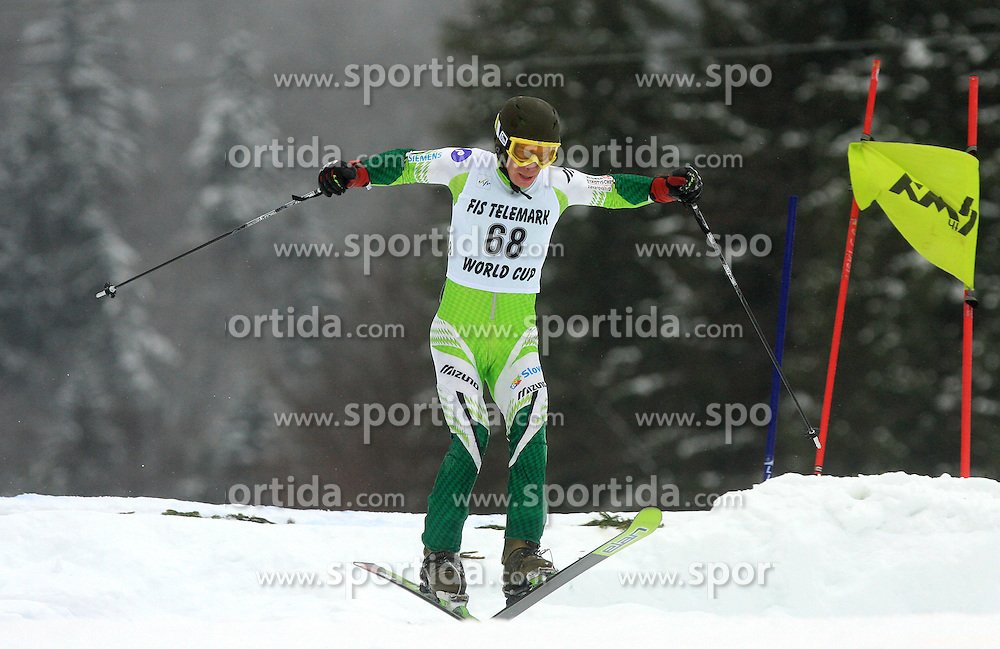 Matija Liska of Slovenia at FIS Telemark World Cup Kobla 2009 race,  on January 18, 2009, in Kobla, Bohinj, Slovenia.  (Photo by Vid Ponikvar / Sportida)