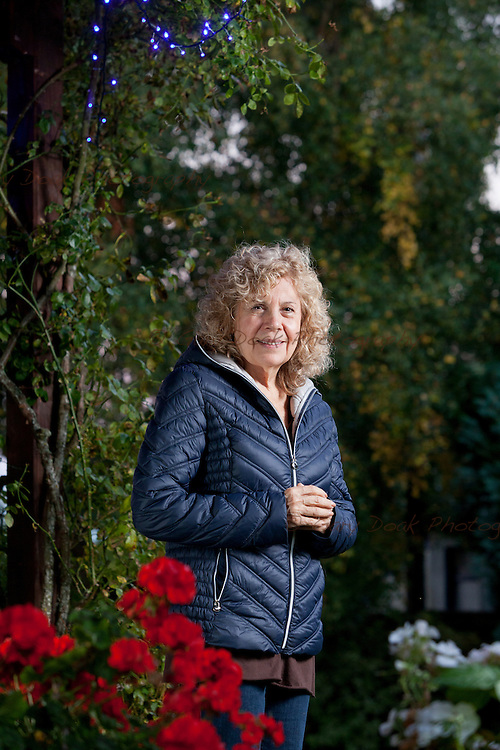 Barbara Harris Whitfield is a therapist, workshop presenter, near-death experiencer, and respiratory and massage therapist. Findhorn, Moray<br /> <br /> 1st October 2015 <br /> <br /> Photograph by Gary Doak