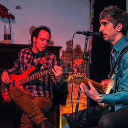The Modern Poppers play at the premiere of their music video for the song Monkey Girl.