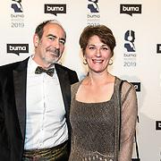 NLD/Hilversum/20190311  - Uitreiking Buma Awards 2019, Vanessa Lann en Partner