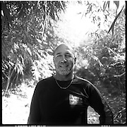 Billy Fritz, of Franklin, Pennsylvania, poses for a portrait during his motorbike tour of the Ho Chi Minh Trail in Laos. Fritz, a 60-year old orthopedic surgeon and commercial helicopter pilot, was a 1st lieutenant combat engineer company commander during the Vietnam War, serving in 1967-68. ..
