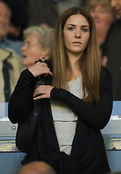 LIVERPOOL, ENGLAND - Monday, August 24, 2009: The girlfriend of Liverpool's new defender Sotirios Kyrgiakos during the Premiership match at Anfield. (Photo by David Rawcliffe/Propaganda)
