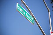 Santa Ana Blvd Street sign