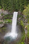 View of 70 meter (230 ft) Brandywine Falls, in Brandywine Falls Provincial Park, British Columbia, Canada.