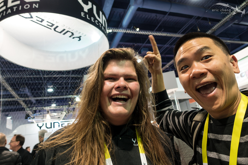Meeting Trent Siggard in person for the first time—finally! CES 2016, Las Vegas.