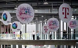 "26.03.2019, T-Center, Wien, AUT, T-Mobile, Pressekonferenz zum Thema""5G-Pionier Österreich - T-Mobile startet 5G-Netz"", im Bild Feature UPC und T-Mobile Schilder // during an media briefing of the Austrian telecommunication company ""T-Mobile"" which presents the start of the 5th generation of cellular mobile communications ""5G"" in Austria in Vienna, Austria on 2019/03/26, EXPA Pictures © 2019, PhotoCredit: EXPA/ Michael Gruber"