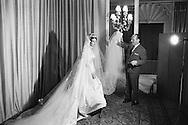 Royal wedding of Princess Fran&ccedil;oise de Bourbon Parma and Prince Edouard Lobkovicz January 1960 in the Cathedral of Notre Dame in Paris.<br /> <br /> <br /> Mariage royal de la princesse Fran&ccedil;oise de Bourbon Parme et le prince Edouard Lobkovicz Janvier 1960 &agrave; la cath&eacute;drale de Notre -Dame de Paris .