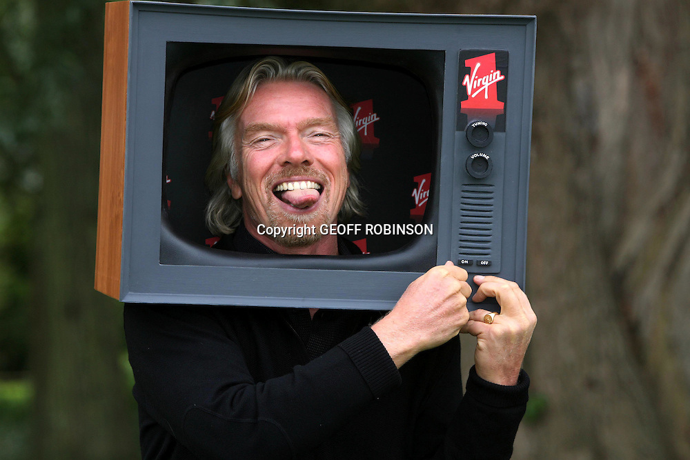 RICHARD BRANSON AT THE LAUNCH OF THE NEW VIRGIN ONE CHANNEL AT HIS HOME IN KIDLINGTON,OXFORD ON THURSDAY 27TH SEPTEMBER..Virgin Media is about to launch its own Freeview entertainment channel. Virgin 1 will replace Virgin's own FTN channel and will be positioned to compete directly with Sky One ...The programming on Virgin 1 will consist largely of American TV imports, just like Sky's 'Sky One' channel. But Virgin is hoping that it will be able to usurp Sky One's dominance by signing exclusive deals with the US television networks..