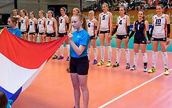 02-04-2017 NED:  CEV U18 Europees Kampioenschap vrouwen dag 2, Arnhem<br /> Nederland - Rusland 3-0 / Team Nederland