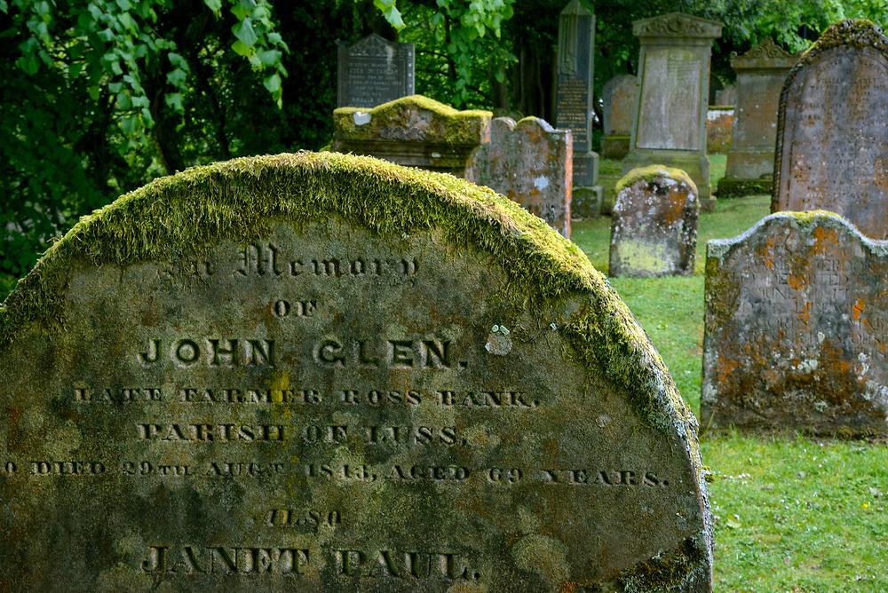 Cemetery in Scotland near Loch Ness