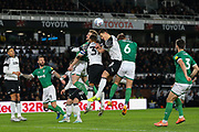 Sheffield Wednesday pressure the Derby defence during the EFL Sky Bet Championship match between Derby County and Sheffield Wednesday at the Pride Park, Derby, England on 11 December 2019.