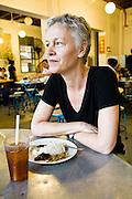Robyn Eckhardt at Teksen Restaurant.