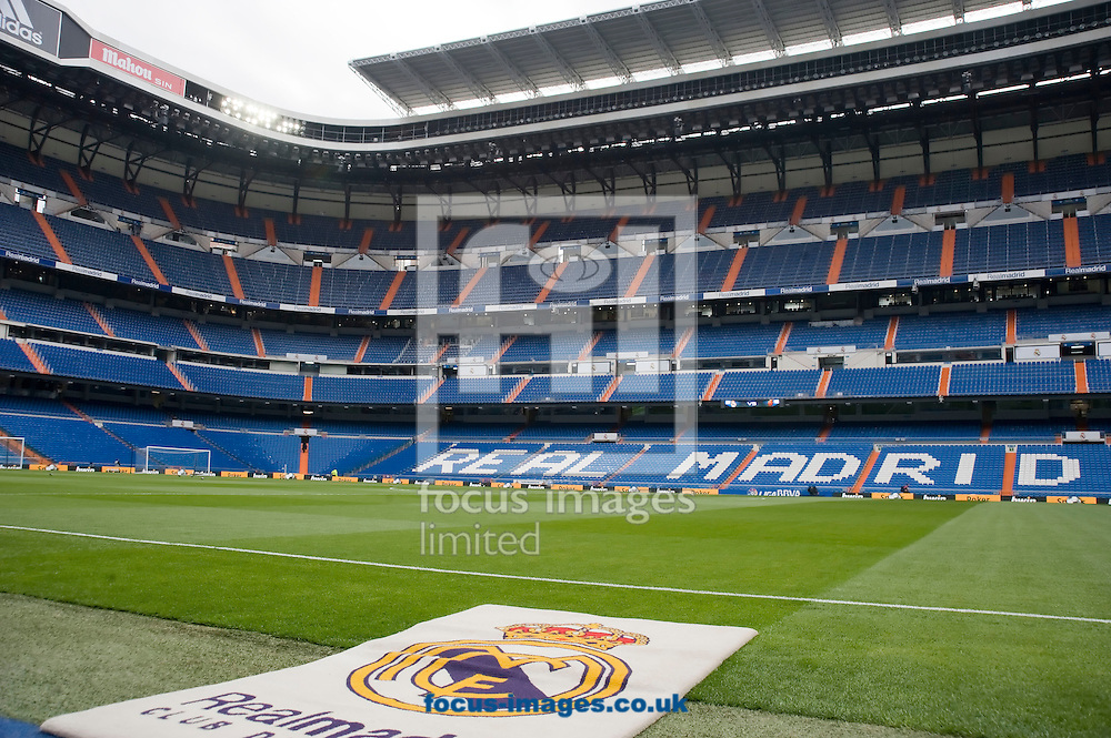 Picture by Marcos Calvo Mesa/Focus Images Ltd +34 600474871.16/03/2013.View of the Santiago Bernabéu stadium two hours before the match between Real Madrid and Real Club Deportivo Mallorca. Liga BBVA.